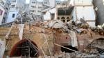 Un quartiere di Beirut dopo lesplosione ANSA