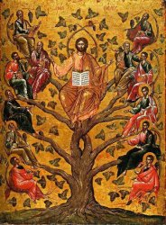 Christ the True Vine icon Athens 16th century